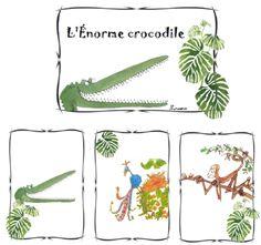 L'énorme crocodile Crocodiles, Savannah, Africa, Crocodile