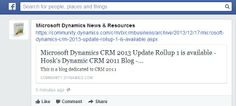 Microsoft Dynamics CRM 2013 Update Rollup 1 is available