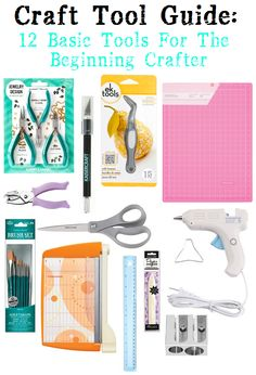 Are you new to crafting but are still confused about what tools you need? Then check out this craft guide which explains the 12  basic tools that every beginning crafter should have!