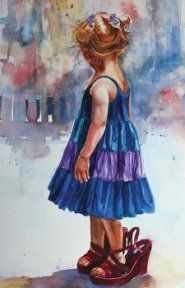 Mom's Shoes, by Carol Boudreau Arte Impresionista, . Watercolor Portraits, Watercolor Paintings, Watercolors, Urbane Kunst, Beautiful Paintings, Love Art, Art Pictures, Photos, Painting & Drawing