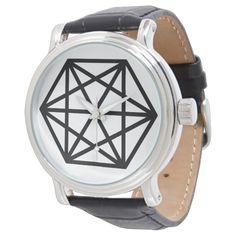 King (+) / Custom Black Vintage Leather Watch