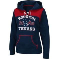 HOUSTON TEXANS WOMEN'S LACE UP PRE-SEASON FAVORITE III FLEECE HOODIE SWEATSHIRT in Sports Mem, Cards & Fan Shop | eBay