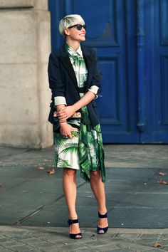 ELISA NALIN  -Dries Van Noten Shirt  -Dries Van Noten Skirt  -Lanvin Jacket  -Lanvin Bag  -Pierre Hardy Shoes