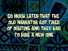 Time cards are used throughout SpongeBob SquarePants to represent how much time has passed...
