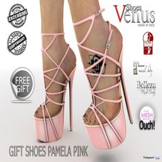 Pamela Pink High Heels Group Gift by VeNuS Shoes | Teleport Hub - Second Life Freebies