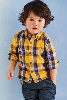 Yellow Check Shirt (3mths-6yrs)