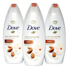 Dove Purely Pampering Almond (Brown) Cream with Hibiscus Body Wash (Pack of Size - 25 Oz. Dove Body Wash, Advanced Skin Care, Lotion For Dry Skin, Roll On Bottles, Almond Cream, Skin Firming, Smell Good, Bath And Body Works, Body Care