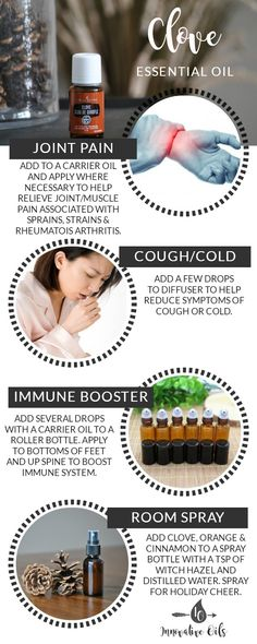 BENEFITS AND USES FOR CLOVE ESSENTIAL OIL