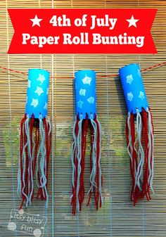 Toilet Paper Roll Independence Day Bunting