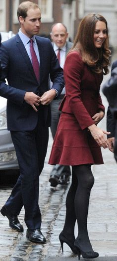 The Duke and Duchess of Cambridge arrive at the Middle Temple Treasury in London.