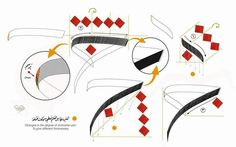 Calligraphy Tutorial, Arabic Calligraphy Design, Persian Calligraphy, Calligraphy Practice, Arabic Calligraphy Art, Calligraphy Letters, Writing Instruments, Teaching Art, Drawings