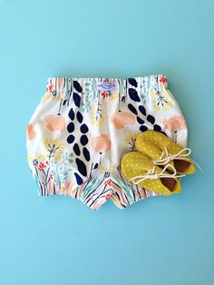 Botanical Cotton Bloomers by Little Maggie Moo. Etsy. Shop Handmade. Bloomers. Baby Bloomers. Kids Fashion.