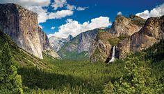 Yosemite Tunnel View with Bridal Falls and El Capitan