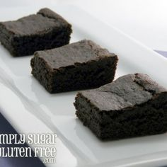 Amaranth Carob Brownies Recipe Desserts with flour, arrowroot, carob powder, baking soda, apple juice concentrate, oil