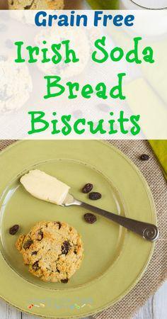 Grain Free Irish Soda Bread Biscuits  #grainfree #paleo #lowcarb