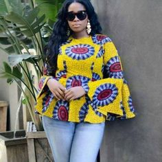 Yaay!!! It's Friday and we are so excited to share some eye catchy Ankara tops that you can rock this weekend.It's not really all the glam that matters sometimes but the comfort. You can always have some Ankara styles that are easy, comfy and ready for an active day; Ankara tops are just one...