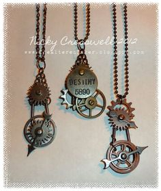 The Altered Inker: Idea-ology jewelry http://thealteredinker.blogspot.co.uk/2012/02/grungy-mondaymake-that-wednesday.html#