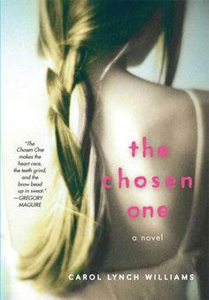THE CHOSEN ONE by Carol Lynch Williams. A teen girl is forced to marry the elder of her Mormon compound. But she has other ideas. This is the first modern young adult book that I read when I switched to writing YA. Great story. THE CHOSEN ONE opened my eyes to the almost limitless possibilities of the YA genre.