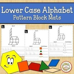 Alphabet Pattern Blocks Mats Lower Case Sight Word Activities, Learning Activities, Teaching Ideas, Kindergarten Blogs, School Reviews, Learn To Spell, Letter Formation, Learning Styles, Teacher Organization
