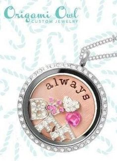 I Love My BFF!! Themed Locket Origami Owl ~ custom jewelry perfect gift personalized tell your story Origami Owl Designer #49140
