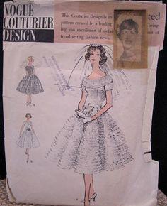 Vintage 1958 Vogue Couturier Design Sewing Pattern 117