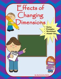 You will receive a worksheet as well as fill in the blank notes with the purchase of this resource.  Students will practice the necessary skills of effects of change of dimensions of area and perimeter to be successful in Geometry and to continue student success and growth.