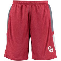 Men's Crimson/Gray Oklahoma Sooners Elite Shorts