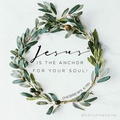 Jesus is the anchor for your soul. Faith Quotes, Bible Quotes, Biblical Quotes, Give Me Jesus, Let God, Walk By Faith, Lord And Savior, Heavenly Father, Spiritual Inspiration