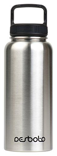 Desboto Stainless Steel Water Bottle with Easy Carry Lid  BPA Free Double Wall Vacuum Insulated  Wide Mouth 32 OZ >>> More info could be found at the image url. Note:It is Affiliate Link to Amazon.