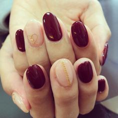 久々の深紅❤ #nails #newnails #gelnail #calgel #nailart #ネイル
