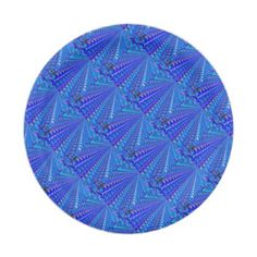 #Brilliant Blue Rose Pattern Paper Plate - #giftsforher #gift #gifts #her