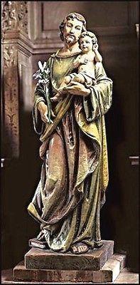 "Saint Joseph Basilica Church Statue 48"" tall – Beattitudes Religious Gifts"