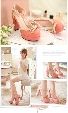 Mango Doll - Bow T-Strap Block Heels, $45.00 (http://www.mangodoll.com/all-items/bow-t-strap-block-heels/)