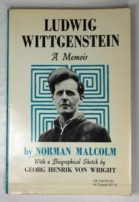 Ludwig Wittgenstein: A Memoir By  Norman Malcolm - Used Books - Paperback - 1972…