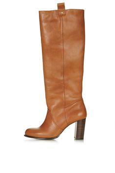CAPTIVE '70s Straight Leg Boots - Topshop