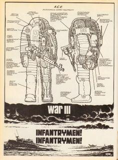 (Heavy Metal issue #54, September 1981 - Page 24 Infantrymen! Infantrymen! by Giminez)
