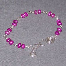 wire wrapped pearl bracelet project tutorial