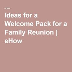 Ideas for a Welcome Pack for a Family Reunion Family Reunion Themes, Family Reunions, Classy Bachelorette Party, Family Get Together, Johnson Family, Family Picnic, Family Genealogy, Bridezilla, Family Affair