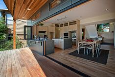 Kitchen view from deck contemporary-kitchen