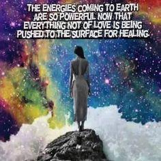 Powerful energies coming to earth. Push me to the surface for Healing 🙏🏼 New Age, E Mc2, After Life, Spiritual Awakening, Spiritual Quotes, Spiritual Enlightenment, Spiritual Meditation, Spiritual Growth, Love And Light