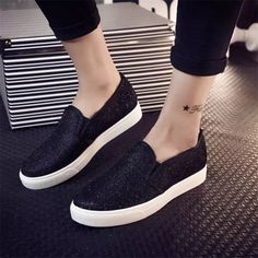 2015 Fashion Women Casual Flat Shoes Women's Spring Autumn Sequined Canvas Shoes for Women Loafers alpargatas Sapatos Femininos-in Women's Casual Shoes from Shoes on Aliexpress.com | Alibaba Group