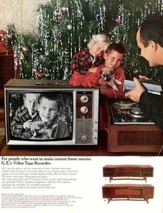 1966 G.E. video tape recorder ad. The Saturday Evening Post.