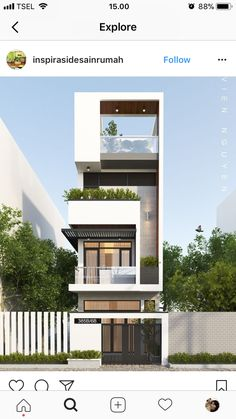 Small house facade design pin by on architecture modern house design modern modern architecture architecture residential Modern Small House Design, Modern Apartment Design, House Front Design, Modern House Plans, Tiny House Design, Small Modern Home, Modern Homes, Duplex Design, Facade Design