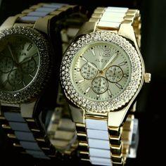 FW929B Gold Tone Dial Round Water Resist Ladies Women ALEXIS Brand Fashion Watch