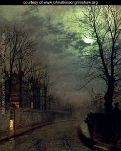 John Atkinson Grimshaw - A Lane In Headingley, Leeds