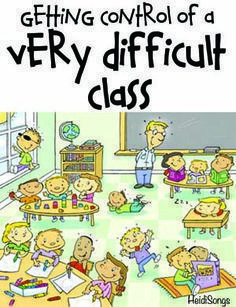 Here's a great list of classroom management tips for getting control of an extremely difficult class- a MUST READ for any teacher at the end of his or her rope.