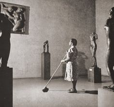 furtho: Fritz Henle's Cleaning Woman In MOMA, 1950s (via servatius)