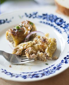 """Sarma – Serbian Cabbage Rolls. with minced beef. (""""I'm pretty sure you've already tried something similar. But if not, let me introduce you Sarma (cabbage rolls) – spicy sour cabbage leaves stuffed with ground beef, cooked in the oven or on the stove, in Serbia traditionally spiced with home made smoked bacon or other smoked meat and aleva paprika (ground chili) - we like it hot!"""")"""