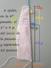 "JUBILOCIOS: JERSEY DE BEBÉ, CANESÚ DE OCHOS (JERSEY ""PRINCESA"") Baby Sweater Knitting Pattern, Easy Knitting Patterns, Knitting For Kids, Knitting Designs, Free Knitting, Baby Knitting, Baby Girl Cardigans, Baby Cardigan, Baby Sweaters"