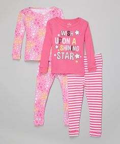 Loving this Pink 'Shining Star' Pajama Set - Infant, Toddler & Girls on #zulily! #zulilyfinds